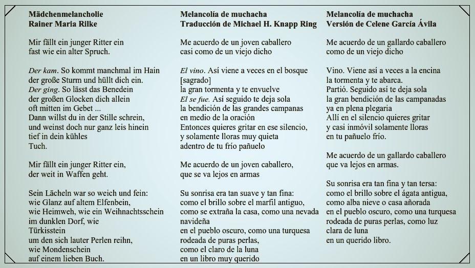 traduccón de Rilke